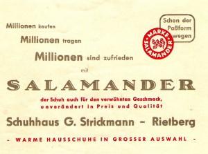 Strickmann Werbung